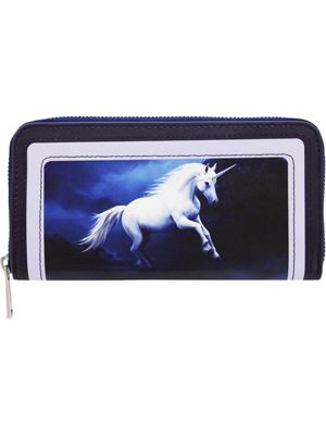 Anne Stokes Moonlight Unicorn Purple Purse 20x10.5x2.5cm