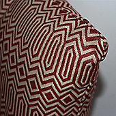 McAlister Smooth Touch Cushion Cover Red Geometric Design