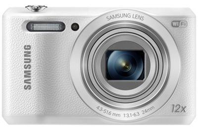 Samsung WB35F Smart Digital Camera, White, 16.2MP, 12x Opical Zoom, 2.7