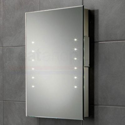 HiB Oliver Rechargeable Battery Powered LED Bathroom Mirror 600mm High X 450mm Wide