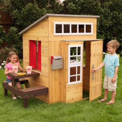 KidKraft Wooden Modern Outdoor Playhouse