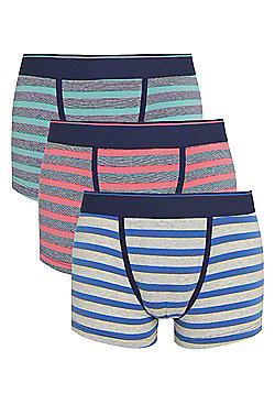 F&F 3 Pack of Striped Hipsters with As New Technology - Multi