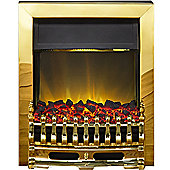 Adam Blenhiem Brass Electric Inset Fire