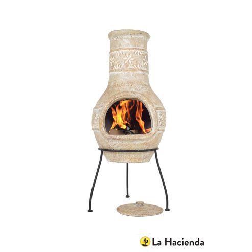 Buy la hacienda star flower clay chimenea from our chimineas range tesco - La hacienda chimenea ...