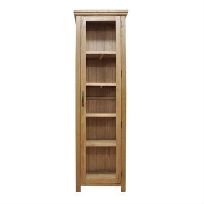 London Light Oak Tall Display Cabinet