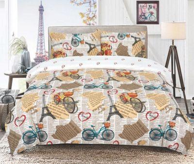 Adult Bedding Vintage Paris 'Cream' Single Duvet Cover Set