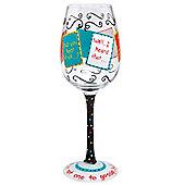 Lolita Wine Glass - Girl Talk