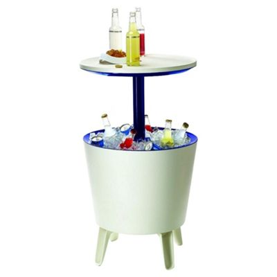 Keter Cool Bar Plastic Outdoor Drinks Cooler Table