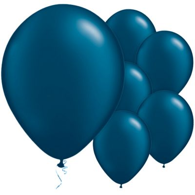 Midnight Blue 11 inch Latex Balloons - 25 Pack