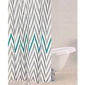 Sabichi Chevron Polyester Shower Curtain