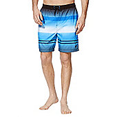 F&F Block Stripe Mid Length Swim Shorts - Blue