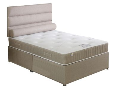 Land of Beds Lancaster Single Non-Storage Divan in Oatmeal