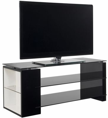 Ateca Eclat Black and White TV Stand For up to 50 inch TVs