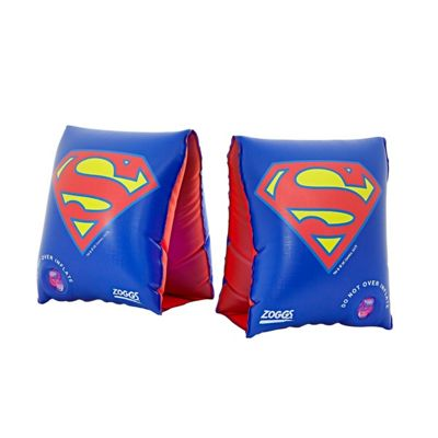 Zoggs Superman Comics Junior Kids Inflatable Swimming Armbands 2-6 Years