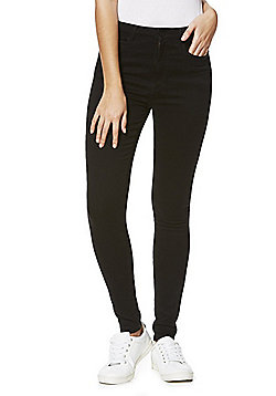 Only High Waisted Stretch Skinny Jeans - Black