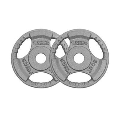 Body Power Standard (1 Inch) Tri Grip Discs 1.25Kg (x2)