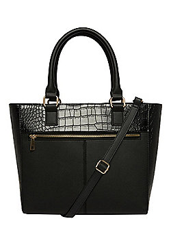 F&F Croc Effect Panel Winged Tote Bag