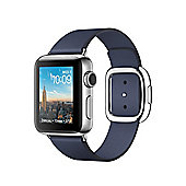 Apple Series 2 (38mm) Watch with Stainless Steel Case and Midnight Blue Modern Buckle - Medium