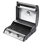 Premium Electric BBQ Grill with Hood and Cast Iron Grill Grates