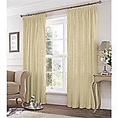 Fusion Eastbourne Pencil Pleat Curtains - Cream