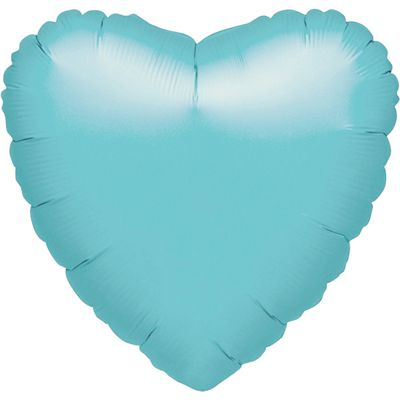 Robin Egg Blue Heart Balloon - 18 inch Foil