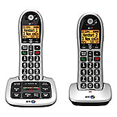 BT 4600, Double, Digital Cordless Telephone with Answerphone, Silver