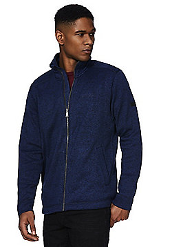 Regatta Braden Textured Zip-Through Fleece - Blue