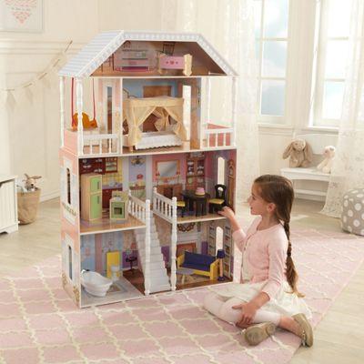 Kidkraft Savannah Wooden Dollhouse W/ 14 Pc Furniture
