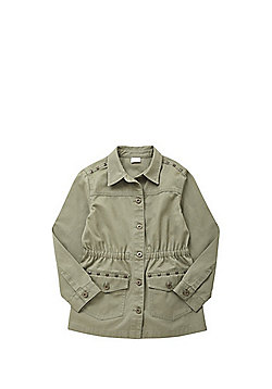 F&F Studded Shacket - Khaki