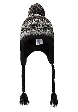 Mountain Warehouse Warped Knitted Mens Trapper Hat - Grey