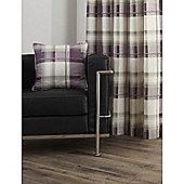 Fusion Check Cushion Cover - Plum 43x43cm