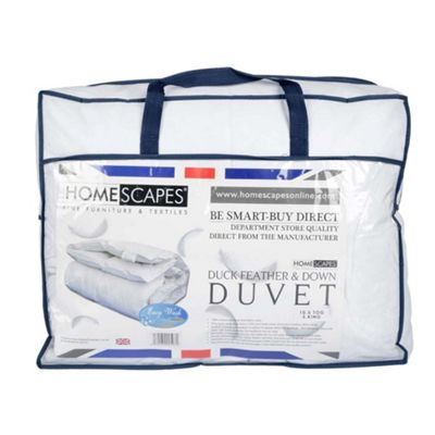 Homescapes Duck Feather and Down Duvet 10.5 Tog Super King Size Autumn Luxury Quilt