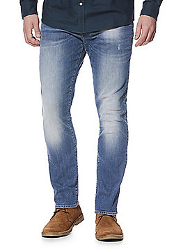 F&F Faded Slim Leg Jeans - Blue