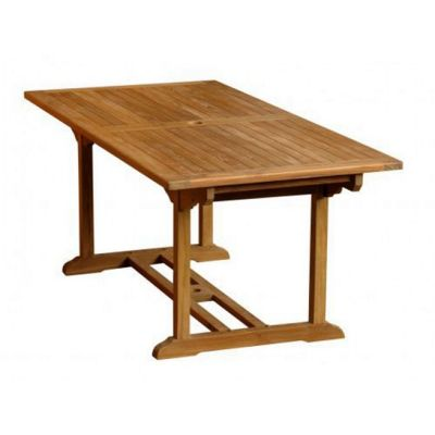 1.9m Rectangular Teak Garden Table