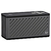 Kitsound Tilt Bluetooth Speaker, gun metal grey