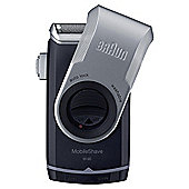 Braun M90 Mens MobileShave Portable Travel Shaver with Smart Foil Razor - Black / Silver