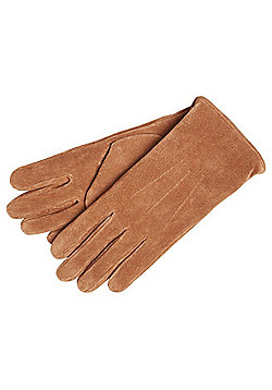 """F&F Signature Suede Gloves with Thinsulate""""™ - Tan"""