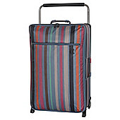 IT Luggage World's Lightest 2-Wheel Large Teal Stripe Suitcase