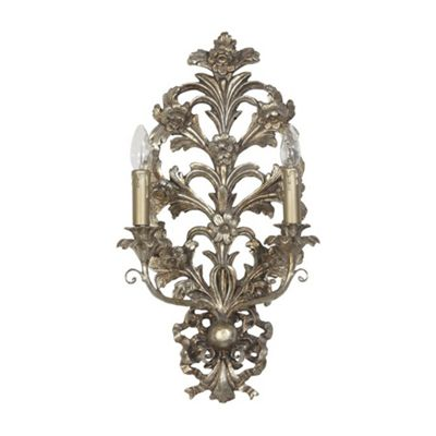 Acanthus Leaf Silver Gilt Leaf Wall Light Electric
