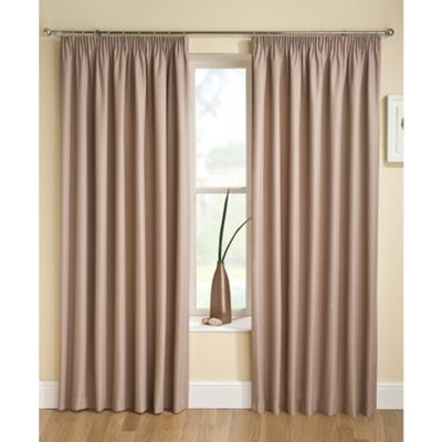 Enhanced Living Tranquility Latte Pencil Pleat Curtains - 46x54 Inches (117x137cm)