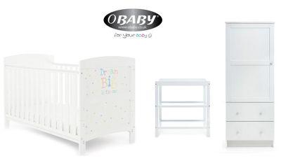 Obaby Grace Inspire 3 Piece Nursery Room Set - Dream Big Little One