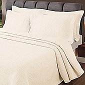 Homescapes Champagne Cream 'Verona' Geometric Pattern Textured Bedspread, King