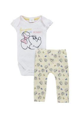 Disney Minnie Mouse Bodysuit and Leggings Set Multi 9-12 months