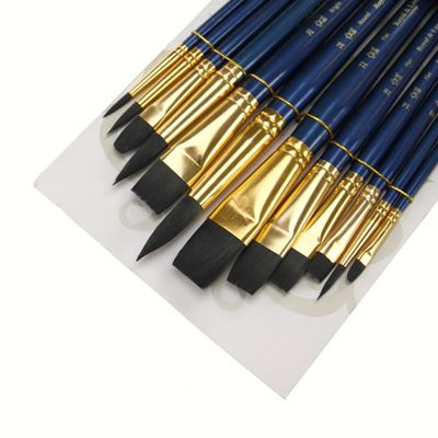 Royal Brush ZipLock Set - Soft Black Taklon Round Variety