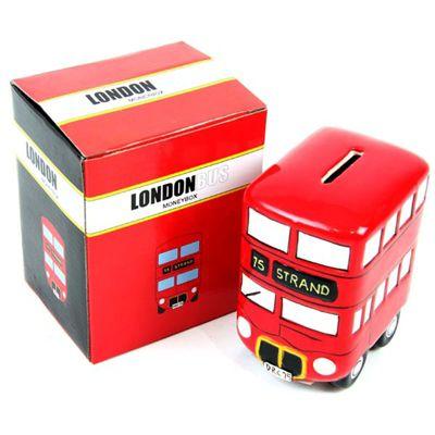 Children's Money Box - London Bus, Money Boxes for Children, Children's Gifts, Christening Gifts