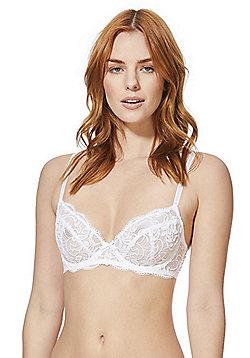 F&F Signature Rae Lace Underwired Bra - White