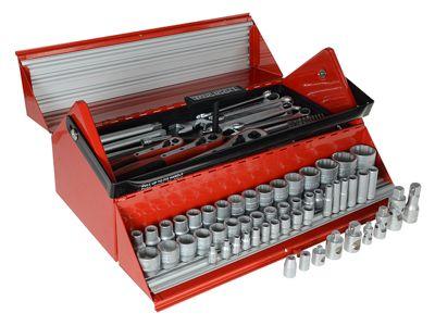 Teng Tools TC187 Mega Rosso Tool Kit Set of 187 1/4, 3/8 & 1/2in