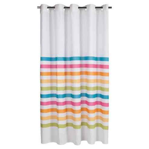 Tesco Bright Stripe Shower Curtain