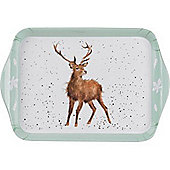 Pimpernel Wrendale Designs Extra Small 21 x 14cm Melamine Scatter Tray, Stag