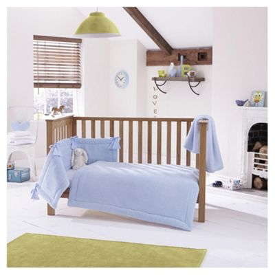 Clair de Lune 3pc Cot Bed Bedding Set (Honeycomb Blue)